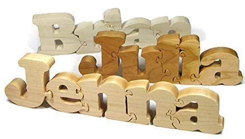 Wooden Name Puzzle, Personalized Name...