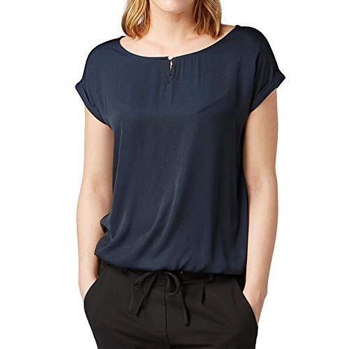 TOM TAILOR Damen 1007955 T-Shirt, Blau (Sky Captain Blue 10668), L