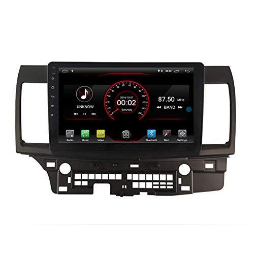 BJYG Android 10 Car DVD Player GPS Stereo Head Unit Navi Radio Multimedia WiFi para Mitsubishi Lancer 2007 2008 2009 2010 2011 2012 2013 2014 2015 2016 2017 Soporte de Control del volan