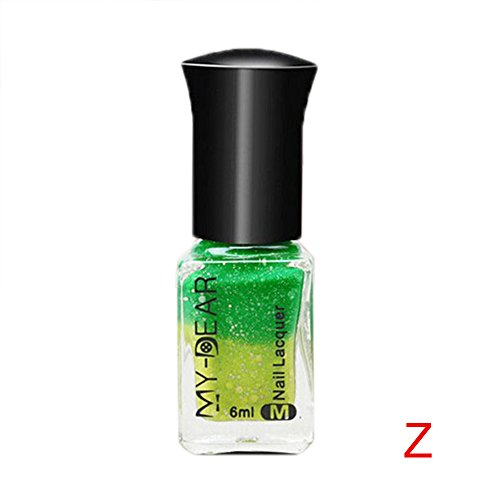 Thermal Nagellack Farbwechsel Abziehen Lack Beauty Sexy Cosmetic Thermo Effekt Color Changing Nail Polish mehrfarbig ablösbarer Gel Pretty Art Peel Off Sunlight Sensitive Lacquer Varnish DIY Manicure