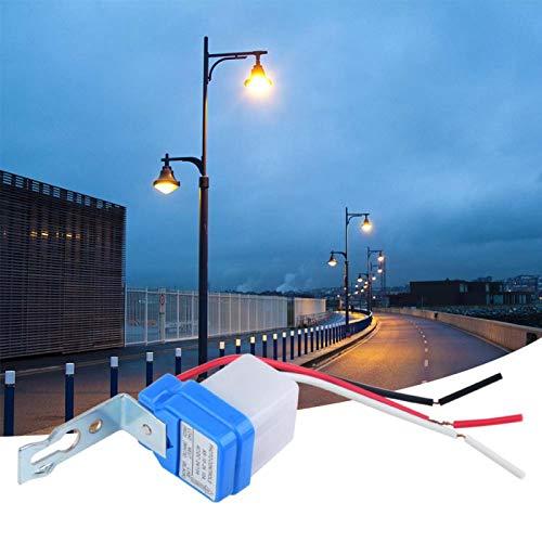 Interruptor de control de luz automático, menos potencia, interruptor de control de luz, interruptor de lámpara al aire libre, luces de jardín automáticamente para el hogar (24 V)
