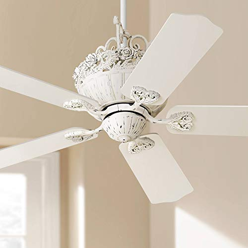 "52"" Casa Chic Rubbed White Ceiling Fan"