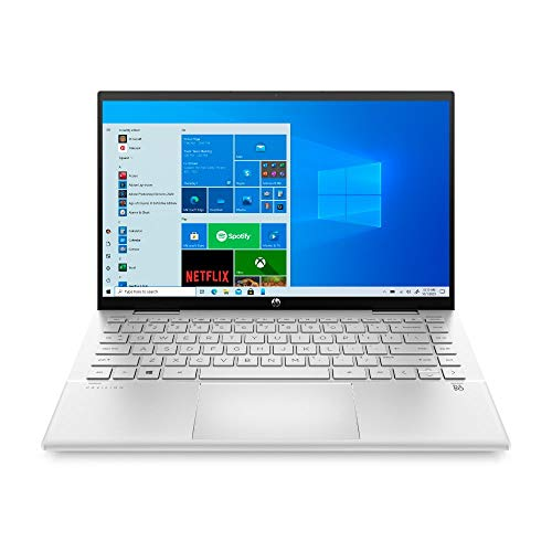 HP Pavilion x360 14-dy0243ng (14 Zoll / FHD IPS Touch) 2in1 Convertible (Intel Core i5-1135G7, 8GB DDR4 RAM, 256GB SSD, Intel Iris Xe, Windows 10) silber