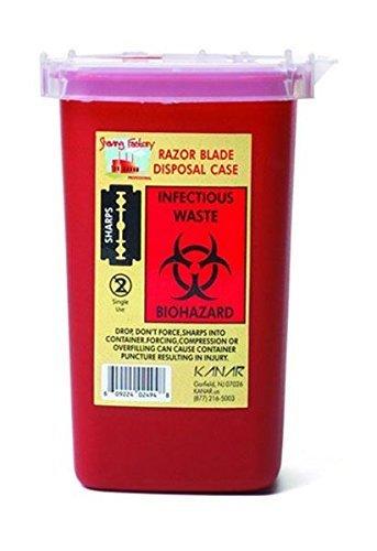 SHAVE FACTORY Behälter für Einweg-Rasierklingen, 100 g