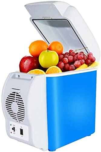 FDGSD Mini refrigerador de 7.5 L, refrigerador pequeño, refrigerador pequeño y Calentador de sobremesa, refrigerador portátil de 12 V / 24 V para automóvil y hogar