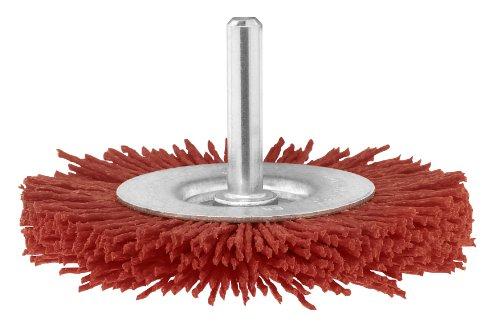Bosch 2 609 256 535 - Cepillos de disco para taladradoras, alambre de nilón con medio de lijado de corindón, grano K80, 75 mm
