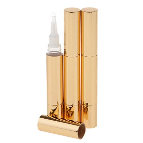 3pcs 5 ml Botella de Torsión Rellenable de Esmalte de Uña/Brillo de Labios/Loción Líquida - Ideal para Viaje - Oro