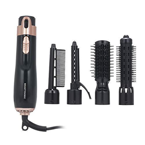 Qalabka 4 en 1 Secador de pelo Styler y Volumizer Rizador de cabello Alisador Secador de pelo Cepillo Secador de peine giratorio PeineCepillo secador