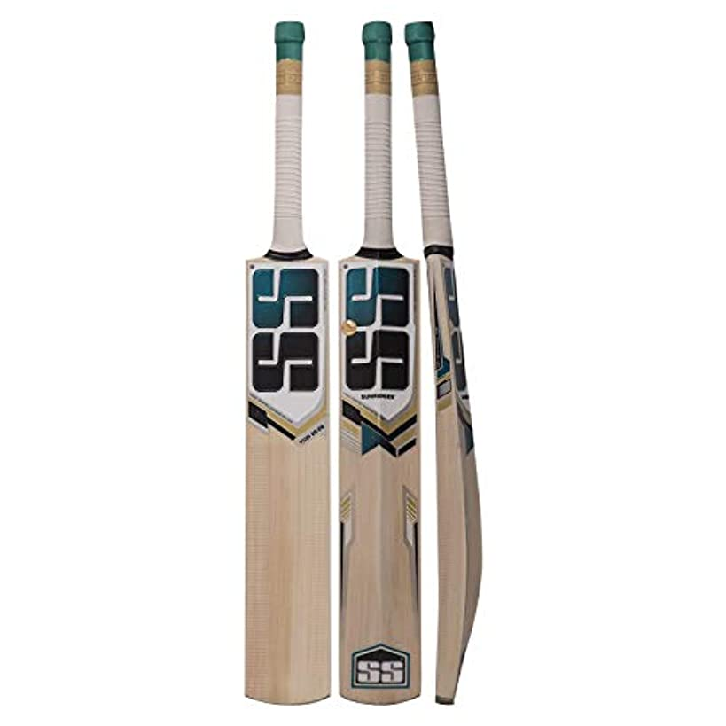 SS Kashmir Willow Leather Ball Cricket Bat, Exclusive Cricket Bat For Adult Full Size with Full Protection Cover (Super Power, Cannon, Impact)