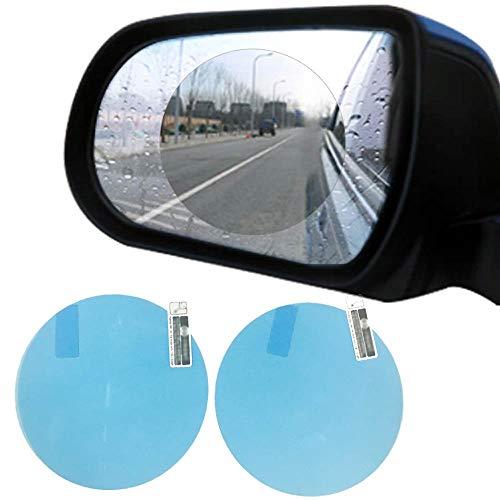 OHITEC 撥水フィルム バックミラー車の窓と浴室ミラー用 霧と霧フリー耐水性防水アンチグレア明確な保護シールド膜 (2枚入り)