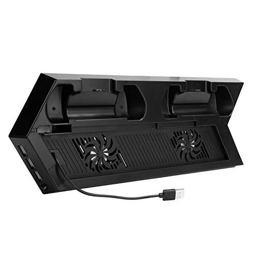 ASHATA Ventilador de refrigeración para PS4, Soporte de Ventilador de refrigeración, Soporte de Control de Temperatura, para Consola de Juegos PS4, para Accesorios de Consola Playstation 4