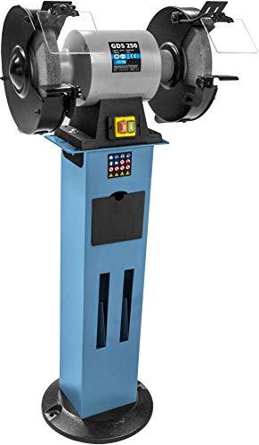 Güde 55123 Amoladora Doble GDS 250, 750 W, 400 V, Azul y Negro