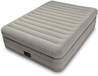 Intex Fiber-Tech Prime Comfort Queen Size Raised Airbed with Built in Electric Pump-64446