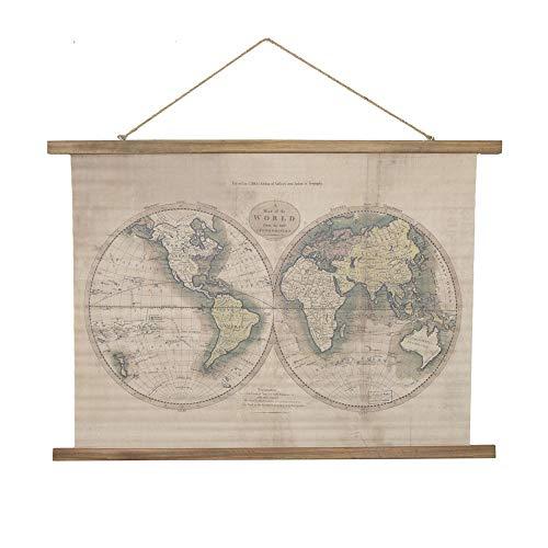 Melody Maison grande rustico mappa del mondo da appendere stampa su tela