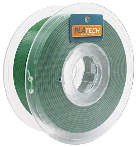 FFFworld 250 g PLA Tech 1,75 mm - Filamento PLA 1,75 con bobina di precisione Optiroll - Pla Filament verde scuro