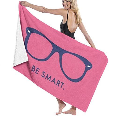 LREFON Be Smart Toallas de baño Moda Toalla de Ducha de Secado rápido Personalidad Toalla de Playa Suave para Nadar (31.5X51.2 Pulgadas)