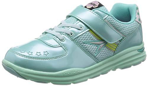 [シュンソク] 運動靴 通学履き 瞬足 抗菌 防臭 軽量 合皮 19~24.5cm 2E キッズ 女の子 ミント 22 cm
