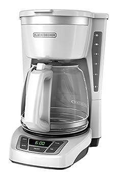 Black+Decker CM1160W-1 CM1160W 12-Cup Programmable Coffeemaker White/Stainless Steel