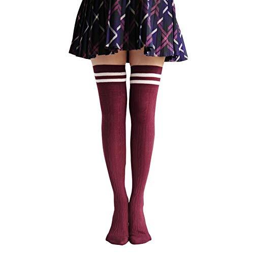 Butterme Mädchen Streifen Kniestrümpfe Elastisch Overknee Strümpfe Cheerleader College Kniestrümpfe Winter Wärmer Baumwolle Strümpfe Strumpfhose Socken