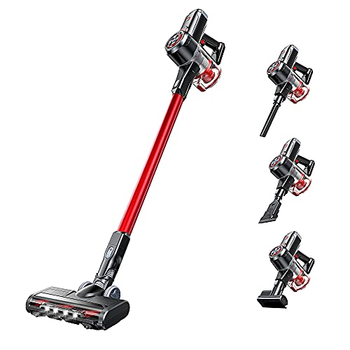 Cordless Vacuum Cleaner, 25Kpa Strong Suction, 40 mins Runtime, Ultra-Quiet, Lightweight, Detachable Battery, 2 in 1 Cordless Stick Vacuum for Deep Clean Pet Hair Carpet Hard Floor
