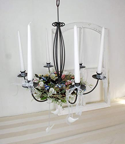 dekorierter Kerzenleuchter, Chandelier, Kronleuchter, Kerzenhalter modern