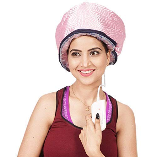 Surat Dream Thermal Head Spa Cap Treatment with Beauty Steamer Nourishing Thermal Heating Cap, Spa Cap For Hair, Spa Cap Steamer For Women (Pink)