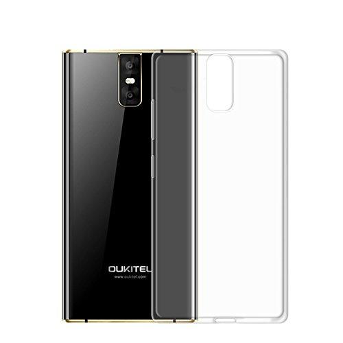 Easbuy Handy Hülle Soft Silikon Transparent Hülle Etui Tasche für Oukitel K3 Smartphone Cover Handytasche Handyhülle Schutzhülle (Transparent Clear)