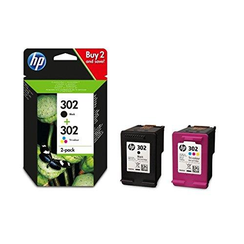 Originale HP 302nero e tricolore Combo Pack X4D37AE solo compatibile con stampanti europea
