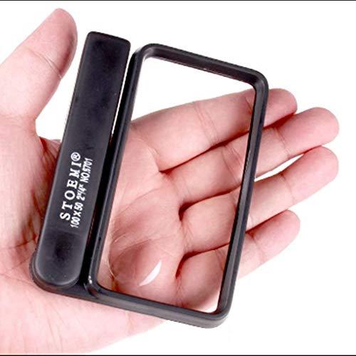 LZP-PP Glas 4 mal quadratischer Glasvergrößerungsspiegel Kind Old Lese Loupe Identification Werkzeuggriff Folding Lupe Werkzeug Lupe zum Lesen