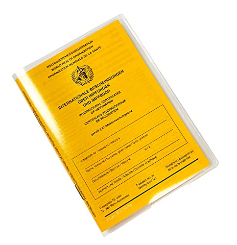 Tarjeta de vacunación internacional, CON funda transparente, certificado internacional de vacunación, versión 2021 (Set)