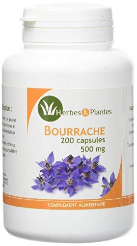 Herbes Et Plantes Bourrache 200 Capsules 500 mg