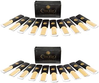 Cecilio Clarinet Reeds, Strength 2.5, Two Boxes of 10 (Total of 20 Reeds)