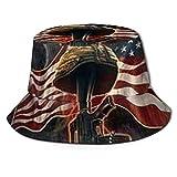 HARLEY BURTON Sombrero unisex del pescador sombrero de la paz halcón nosotros bandera libre viaje playa sol sombreros para hombres mujeres negro