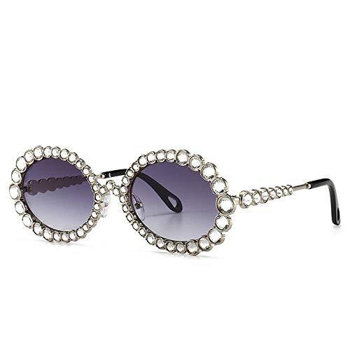 YANPAN Moda Personalidad Cristal Gafas De Sol Decorativas Montura Ovalada Tendencia Gafas...