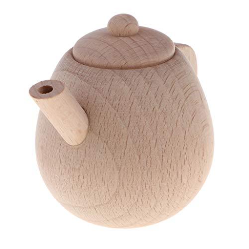 Homyl Holz Teekanne Spielzeug Teeservice Küchenspielzeug für Kinderküche Wasserkocher Kaffeeservice Kinder Pädagogisches Lernen