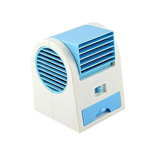 XXYsm Mini Air Cooler Household Portable Charging USB Small Air Conditioning Fan Cool Cooling Conditioner For Dormitory Office Living Room Kitchen Bathroom Bedroom 11.5x11x13.5CM (Blue)