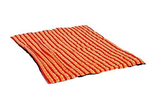 AMAZONAS Picknickdecke Molly Orange mit beschichteter Unterseite und Thermofüllung 175x135 cm orangekariert