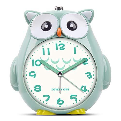Moonya 目覚まし時計 子供 かわいいフクロウ めざまし 切替式アラーム 大音量アラーム 早起きでき 静かな秒...