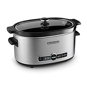 KitchenAid KSC6223SS 6-Qt Slow Cooker with Standard Lid - Stainless Steel