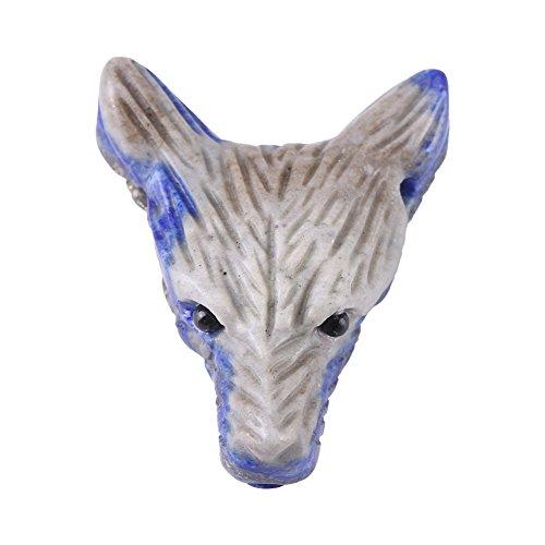 Winnaar Wolf Head Statue Pendant - Natuurlijke lapis lazuli gesneden hanger, kleine sieraden, mode-stijl voor verschillende gelegenheden