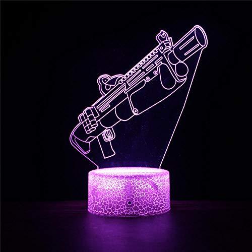 Fortnight Optical Illusion 3D Gyro Lamp/Lampe mit 16 Farben Blinken & Touch-Schalter USB-Powered Schlafzimmer Schreibtischlampe für Kinder Geschenke Home Decoration