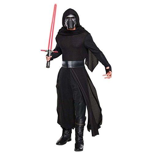 NET TOYS Kylo Ren Kostüm Herren Star Wars Herrenkostüm M/L 48/54 Dunkler Jedi Faschingskostüm Sith Verkleidung Männer Starwars Robe mit Maske Fantasy Karnevalskostüm Erwachsene