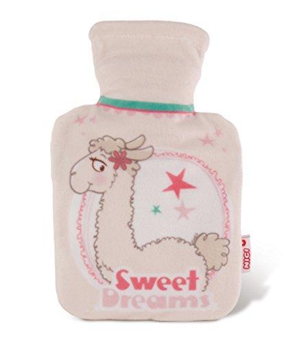 NICI 42254 La Lounge Wärmflasche Lama Dalia mit Fleece-Hülle, 16,5 x 26,5 cm, beige/braun, Größe: ca