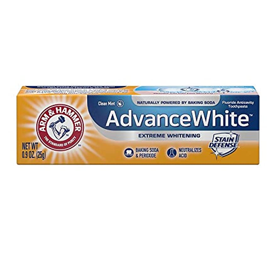 滴下競争力のある死の顎Arm & Hammer Advance White Extreme Whitening with Stain Defense Baking Soda & Peroxide Toothpaste - 4.3 oz by Church & Dwight