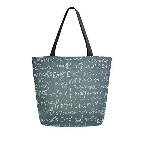 Naanle Scientific Formula Bolsa de lona grande para mujer, bolso de hombro...