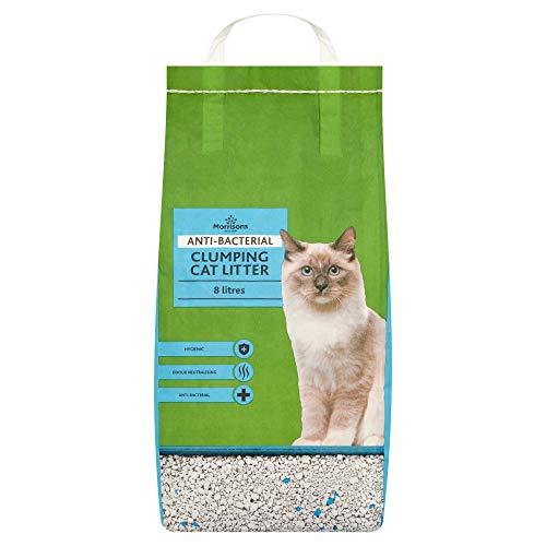 Morrisons Anti-Bacterial Cat Litter Clumping, 8L