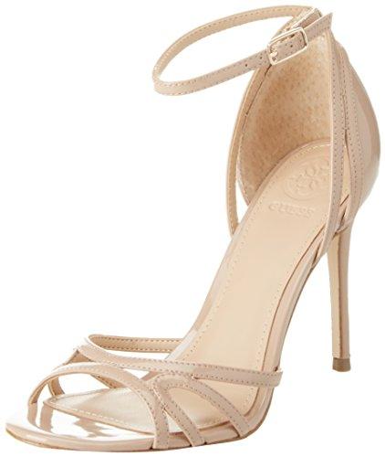 Guess Footwear Dress Sandal  Zapatos con Tacon y Correa de Tobillo Mujer  Beige Medium Natural  39 EU