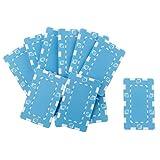 SM SunniMix 10 Pieces Mahjong & Texas Poker Chips Rectangular Ceramic Game Collection, 10 Colors - Light Blue