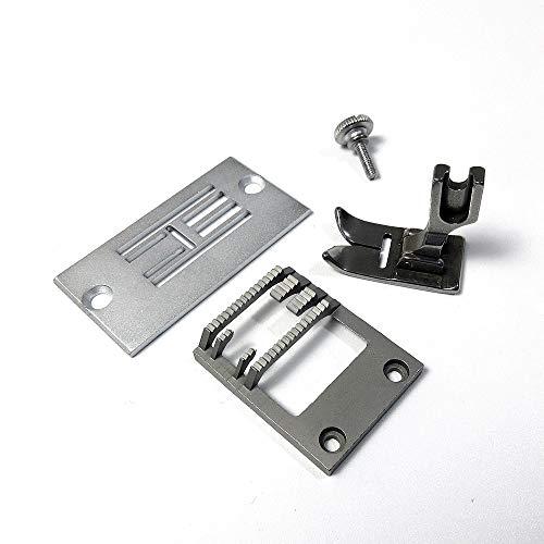 Placa de garganta+perro de alimentación+prensatelas para máquina de coser Singer 20U Zig ZAG #541936+541647+541566
