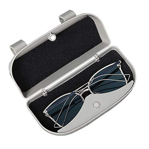Vosarea Brillenhalter für Auto Sonnenblende Universal Auto Sonnenbrille Brillenetui Aufbewahrungsbox Organizer